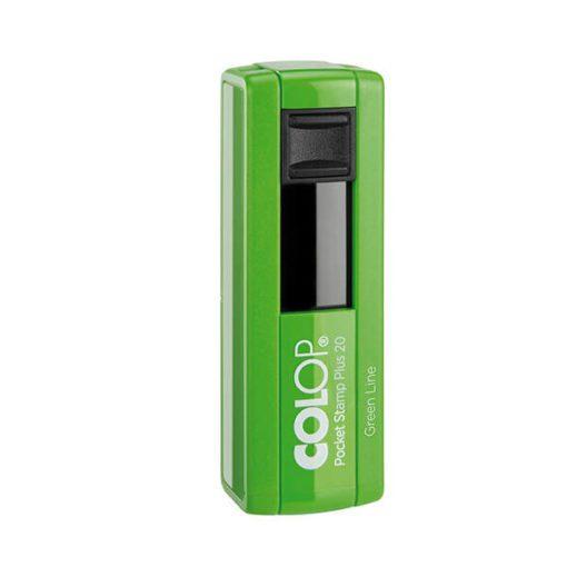 Pocket Stamp 20 green Line