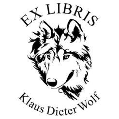 ex libris holzstempel wolf schnauze