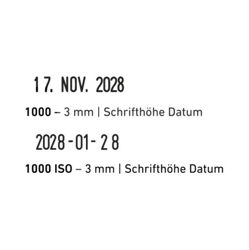 trodat classic 1000 datum iso