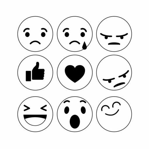 emoji smiley motivstempel