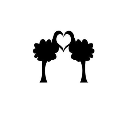 Herz mit Baum Pärchen