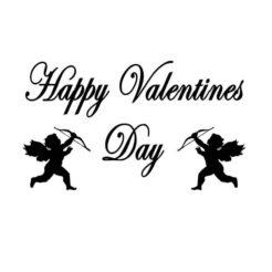 Happy Valentines Day (mit Pfeil und Bogen Engeln)