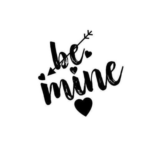 be mine mit Herz und Liebespfeil