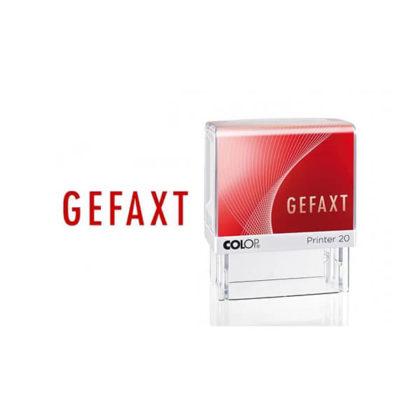Colop Printer Line 20 Lagertextstempel GEFAXT