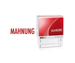 Colop Printer Line 20 Lagertextstempel MAHNUNG