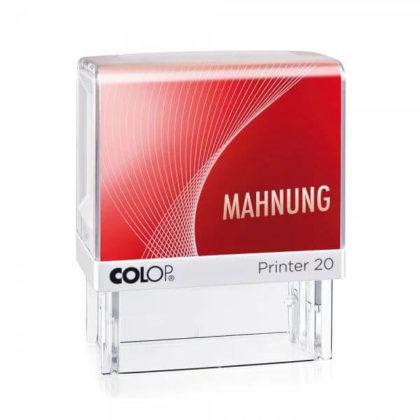 Printer Colop 20 Lagertext MAHNUNG