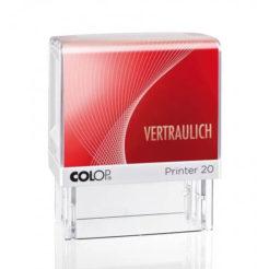Printer Colop 20 Lagertext VERTRAULICH