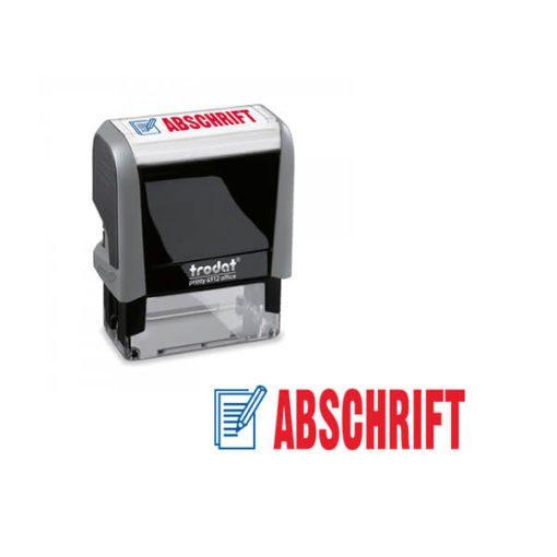 Trodat Office Printy 4912 Lagertextstempel ABSCHRIFT