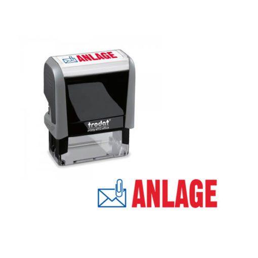 Trodat Office Printy 4912 Lagertextstempel ANLAGE