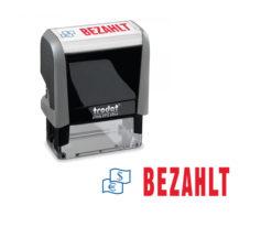 Trodat Office Printy 4912 Lagertextstempel BEZAHLT