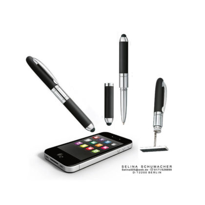 Heri 4321 Mini Stamp and Touch Pen schwarz