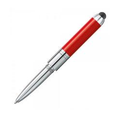heri mini stamp und smart pen 4374 kugelschreiberstempel rot offen
