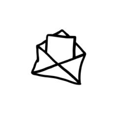 mini motivstempel umschlag mit brief