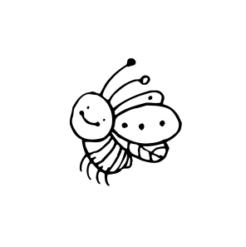 mini motivstempel käfer flieg