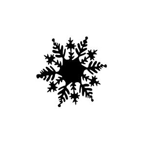mini motivstempel schneeflocke 1