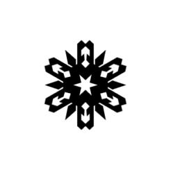 mini motivstempel schneeflocke 12