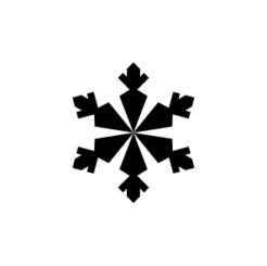 mini motivstempel schneeflocke 14