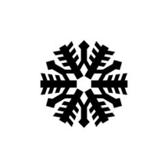 mini motivstempel schneeflocke 15