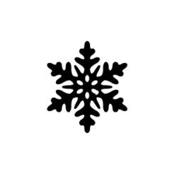 mini motivstempel schneeflocke 16