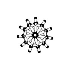 mini motivstempel schneeflocke 22