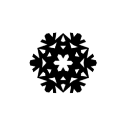 mini motivstempel schneeflocke 24