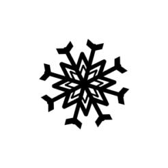 mini motivstempel schneeflocke 27
