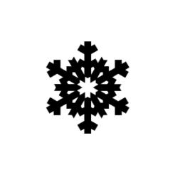 mini motivstempel schneeflocke 28