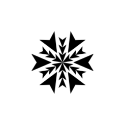 mini motivstempel schneeflocke 5