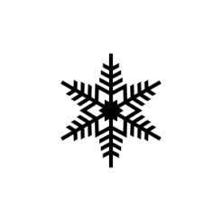 mini motivstempel schneeflocke 6