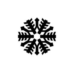 mini motivstempel schneeflocke 8