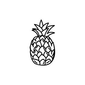 Mini Motivstempel Ananas