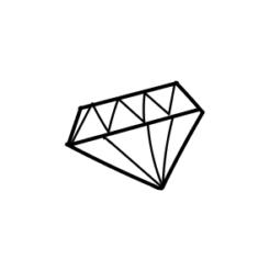 mini motivstempel hochzeit diamant