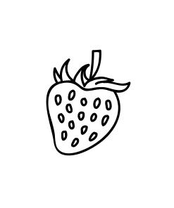 Mini Motivstempel Erdbeere