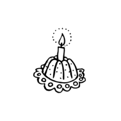 Mini Motivstempel Geburtstagskuchen
