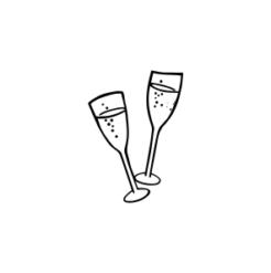 mini motivstempel hochzeit champagnerglaeser