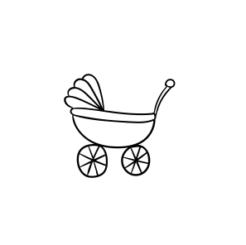 Mini Motivstempel Kinderwagen