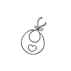 Mini Motivstempel Lätzchen mit Herz