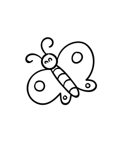 Mini Motivstempel Schmetterling