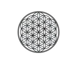 Mini Motivstempel Symbol Blume des Lebens