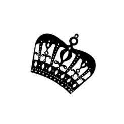 Mini Motivstempel Symbol Krone