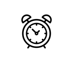 Mini Motivstempel Symbol Wecker