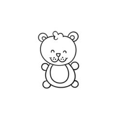 Mini Motivstempel Teddybär