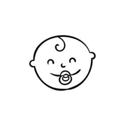 mini motivstempel zufriedenes baby