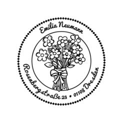 Motivstempel Blumenstrauss