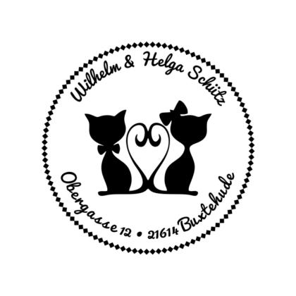 Motivstempel Katzen-Paar