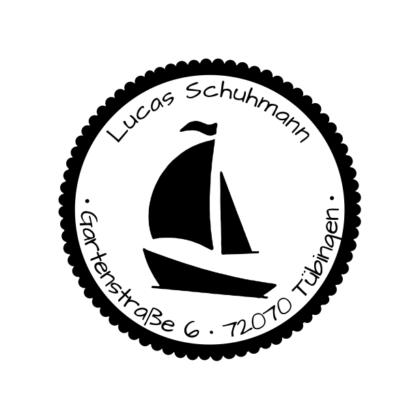 Motivstempel Segelboot