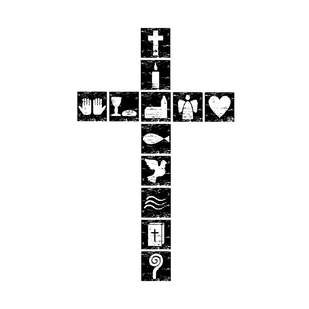 Adressenstempel « CHRISTLICHES KREUZ » mit Kissen Firmenstempel