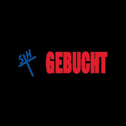Stempel Lagertext GEBUCHT