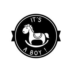 Motivstempel it´s a boy