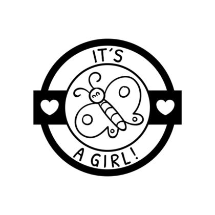 Motivstempel it´s a girl